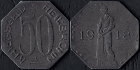 Хейльбронн 50 пфеннигов 1918