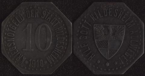 Хильдесхайм 10 пфеннигов 1918