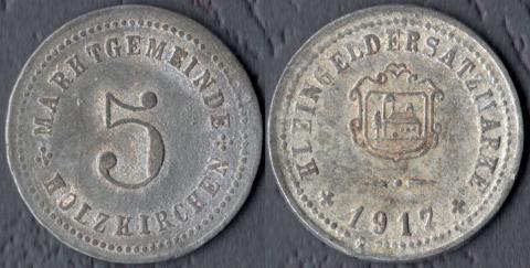 Хольцкирхен 5 пфеннигов 1917