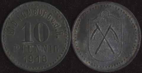 Хомбург 10 пфеннигов 1918