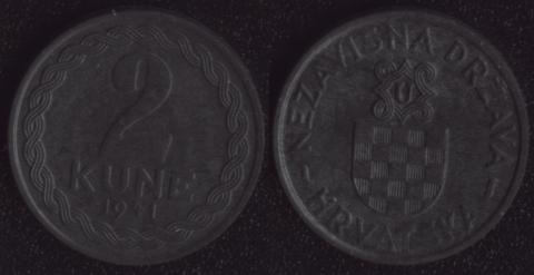 Хорватия 2 куны 1941