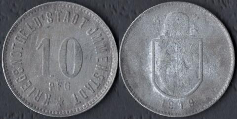 Имменштадт 10 пфеннигов 1919