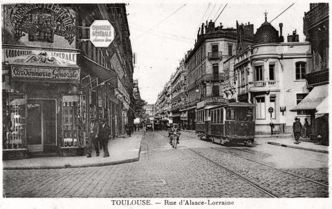 Тулуза. Улица Эльзас-Лотарингия. Фотография первой половины XX века.