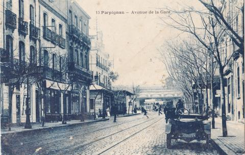 Перпиньян, Привокзальный проспект, открытка начала XX века