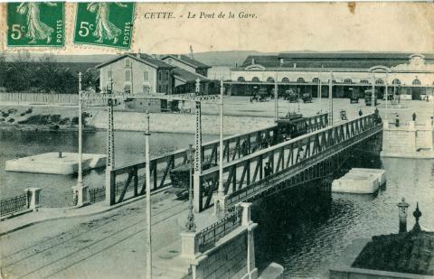 Станция города Сет, открытка 1910 год