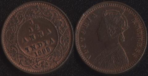 Индия 1/12 анны 1895