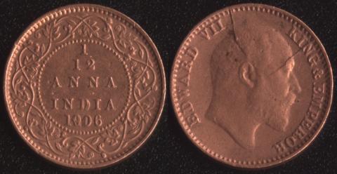 Индия 1/12 анны 1906