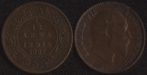 Индия 1/12 анны 1907