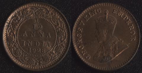 Индия 1/12 анны 1928