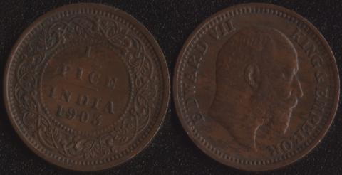 Индия 1/2 пайса 1903