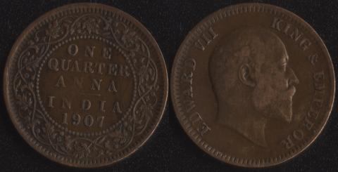 Индия 1/4 анна 1907
