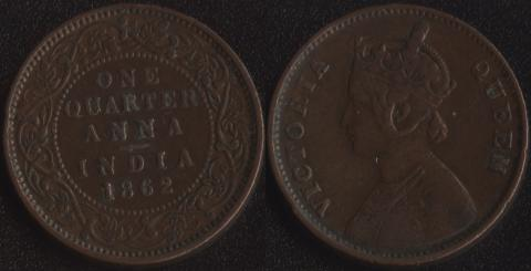 Индия 1/4 анны 1862