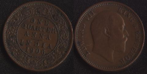 Индия 1/4 анны 1906
