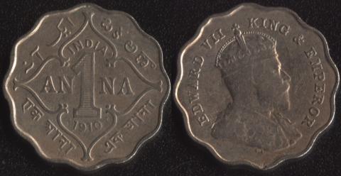 Индия 1 анна 1910