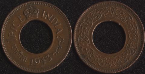 Индия Британская 1 пайса 1943