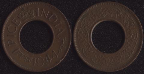 Индия Британская 1 пайса 1944