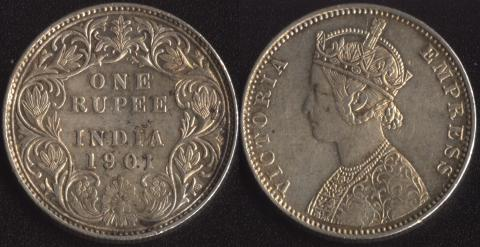 Индия 1 рупия 1901