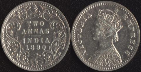 Индия 2 анны 1890