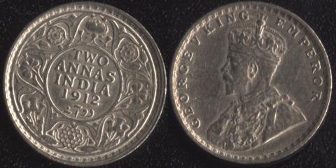 Индия 2 анны 1912