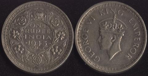 Индия Британская 1 рупия 1945