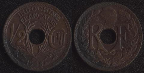 Французский Индокитай 1/2 цента 1938