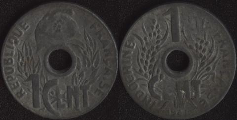 Французский Индокитай 1 цент 1941