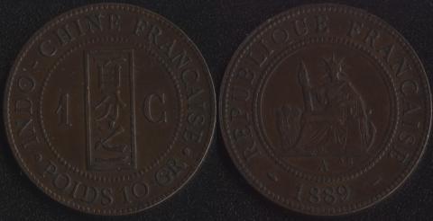 Французский Индокитай 1 цент 1889