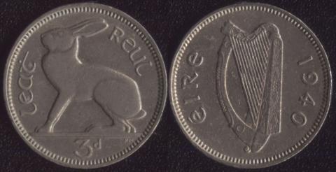 Ирландия 3 пенса 1940