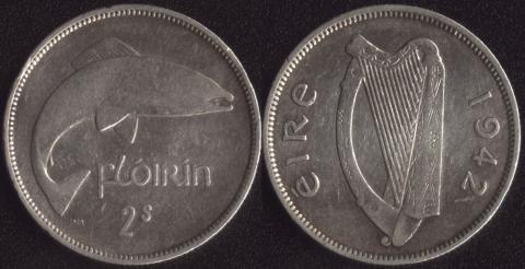 Ирландия флорин 1942