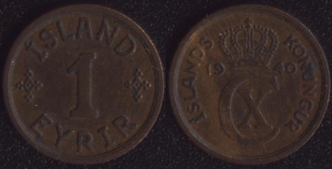 Исландия 1 аурар 1940