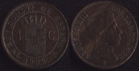 Испания 1 сентимо 1906