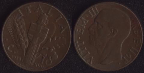 Италия 10 чентезими 1939