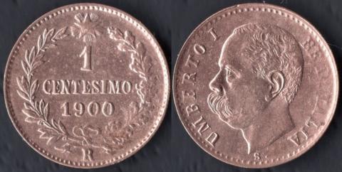 Италия 1 чентезимо 1900