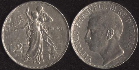 Италия 2 лиры 1911