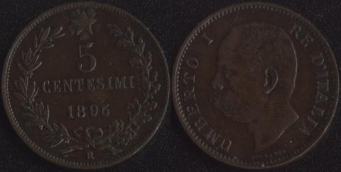 Италия 5 чентезимо 1895