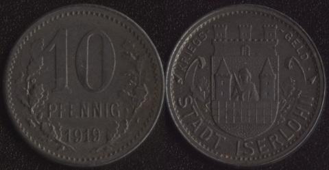 Изерлон 10 пфеннигов 1919