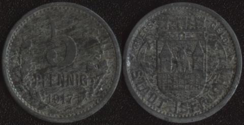 Изерлон 5 пфеннигов 1917