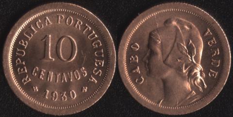 Кабо Верде 10 сентаво 1930