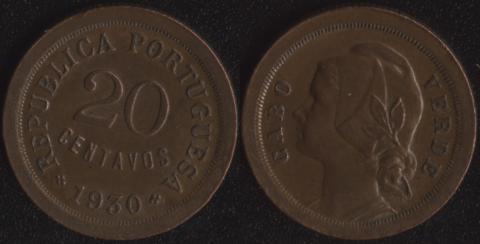 Кабо Верде 20 сентаво 1930