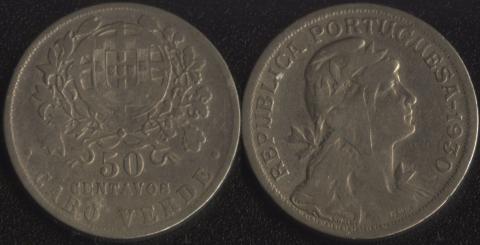 Кабо Верде 50 сентаво 1930
