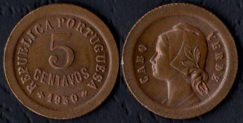 Кабо Верде 5 сентаво 1930