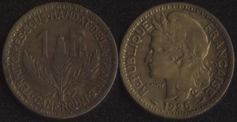 Французский Камерун 1 франк 1925