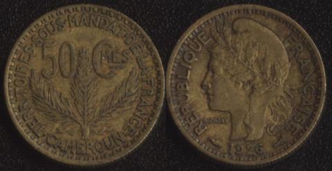 Французский Камерун 50 сантим 1926