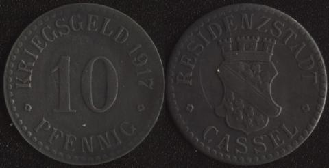 Кассель 10 пфеннигов 1917