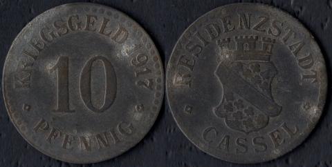 Кассель 10 пфеннигов 1917 (цинк)