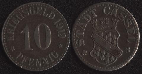 Кассель 10 пфеннигов 1919