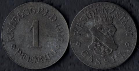 Кассель 1 пфенниг 1917