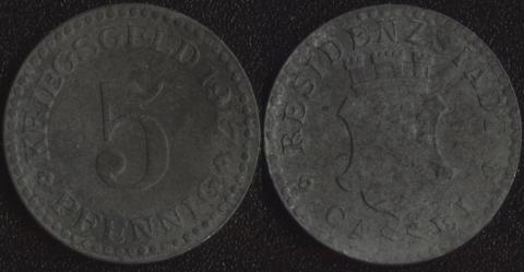 Кассель 5 пфеннигов 1917