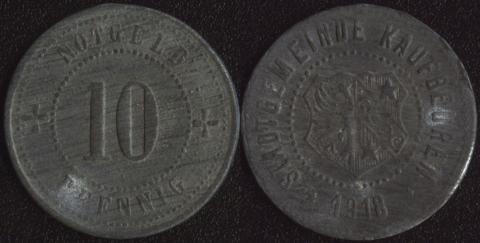 Кауфбойерн 10 пфеннигов 1918