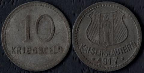 Кайзерслаутерн 10 пфеннигов 1917